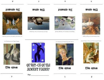 What does he/she like to do? Mini Booklet using FINE ART