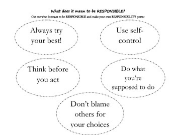 What does it mean to be responsible? Make your own Poster!