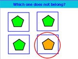 What does not belong (categories, negation, and differences)