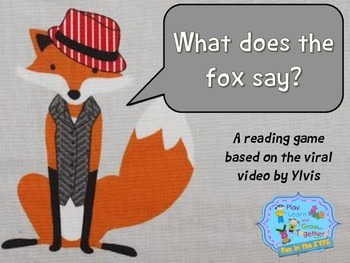 What does the fox say? reading game