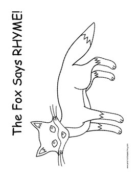 What does the fox say - rhyming activity!