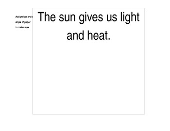 What does the sun do for us?