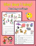 What doesn't belong - Categories (Print + Digital Activity)
