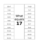 What equals 17