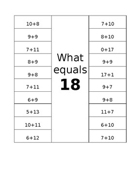 What equals 18