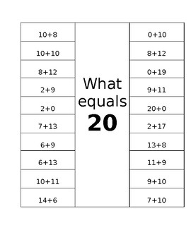 What equals 20