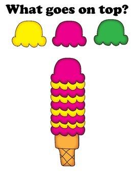 """What goes on top?"" ice cream cones"
