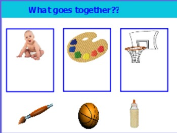 What goes together (a basic sorting and categorizing activity)