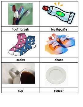 What goes together works in pairs matching ESL cut paste real pictures science