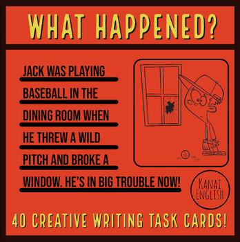 What happened? Creative writing task cards