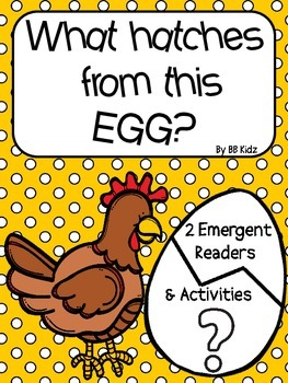 What hatches from this egg? {2 Egg emergent readers/ activities to go with them}