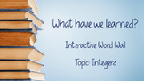What have we learned? Interactive Word Wall Posters/Cards