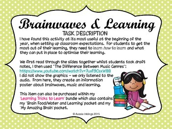Brainwaves and Learning