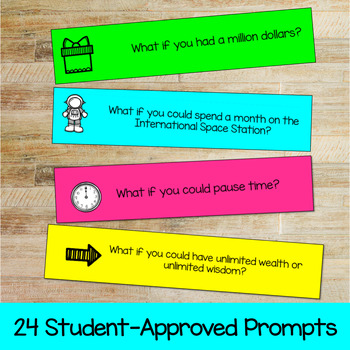 What if?    Creative Writing Journal Prompts by Kylie Sev | TpT