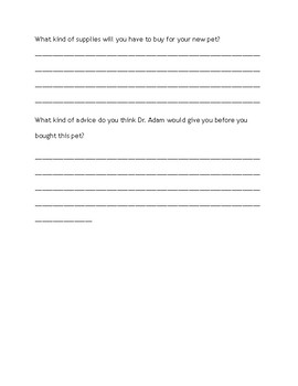 What if I got a new pet worksheet