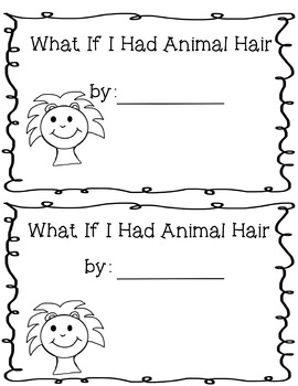 What if You Had  Animal Hair Activities, Graphic Organizers, Research