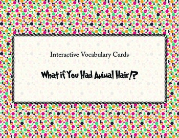 What if You Had Animal Hair Vocabulary Cards