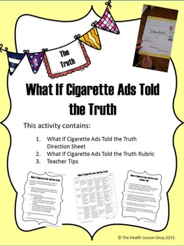 What if cigarette ads told the truth - Activity