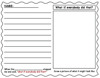 """What if Everybody Did That?"" Worksheet"