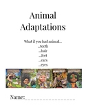 What if you had Animal (teeth, hair, feet, ears, eyes) Activity Packet