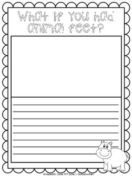 What if you had Animal Feet? Writing Templates
