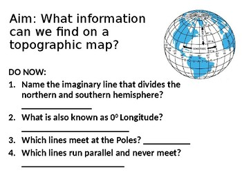 topographic maps ppt by nicolina d agosto teachers pay teachers