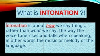 What is İntonation?!