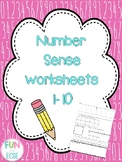 Number Sense 1-10 Worksheets