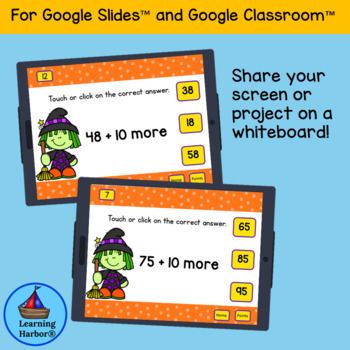 What is 10 More? Halloween fun with Google Classroom™