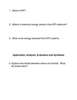 What is ATP?  Common Core Activities