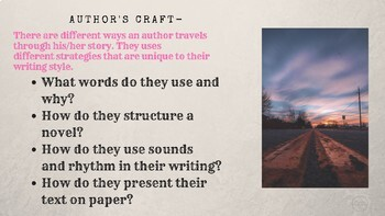 What is Writer's Craft?