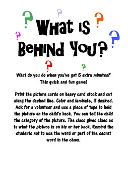 What is Behind You? (Back to School)