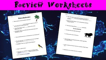 What is Biodiversity? Power Point Presentation with Worksheet