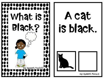 """""""What is Black?"""" An Adapted Speech Therapy Book About Colors"""