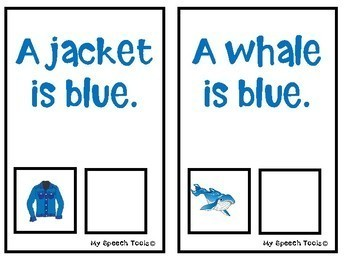 What is Blue? An Adapted Speech Therapy Book About Colors