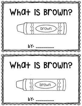 What is Brown?  reader