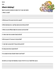 What is Bullying Activity Sheet