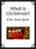 What is Christmas A Non Fiction Article
