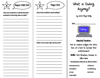 What is Coding, Anyway? Trifold - ReadyGen 6th Grade Unit 4 Module B