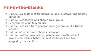 What is Culture? PowerPoint Presentation
