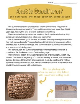 What is Cuneiform? The Sumerians and their Greatest Contribution