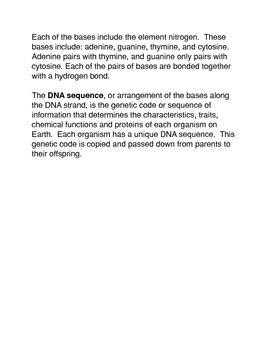 What is DNA?  Common Core activities