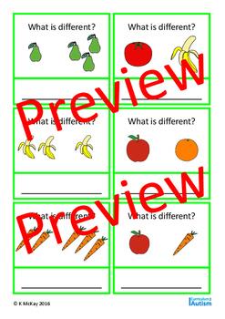 Comparing & Classifying, Visual Discrimination, Autism, Special Education