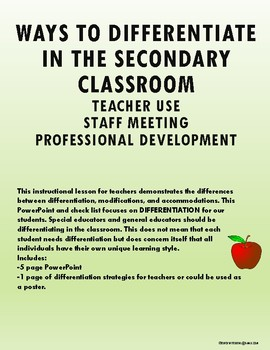 What is Differentiation and Useful Strategies