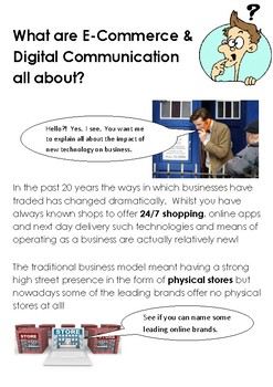 What is E-Commerce and Digital Communications All About?