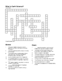 What is Earth Science Crossword