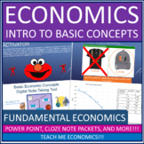 Economics - Introduction to Scarcity, PPF, Opportunity Cost Power Point