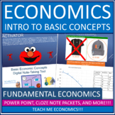 Economics - Introduction, Scarcity, PPF, Opportunity Cost Bundle Power Point