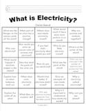 What is Electricty Choice Board / BINGO Board