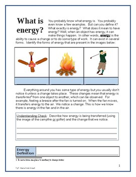 What is Energy? 2 page